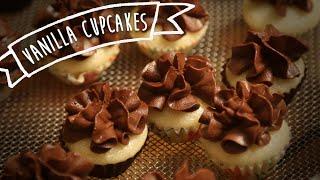 Eggless Vanilla Cupcake With Chocolate Frosting | Kiddie