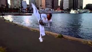 kick- by Habitamu Tilahun who was ETA ITF taekwondo instructor (Ethiopia )