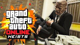 THE BIG BANK ROBBERY (GTA 5 Heists Funny Moments) #3