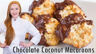 Coconut Macaroons in Chocolate