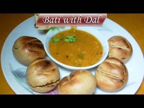 Bati with Dal