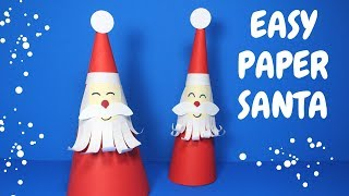How to Make an Easy Paper Santa | Christmas Craft for Kids