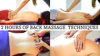 2 Hours Relaxing Back Massage Therapy, Relaxation Music & ASMR Voice