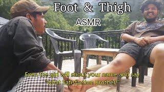 Best Indian Massage - Foot & Thigh Massage by Ravi(Subtitles) | Part-3 | ASMR
