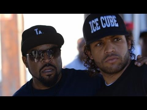 Ice Cube and Son on Straight Outta Compton