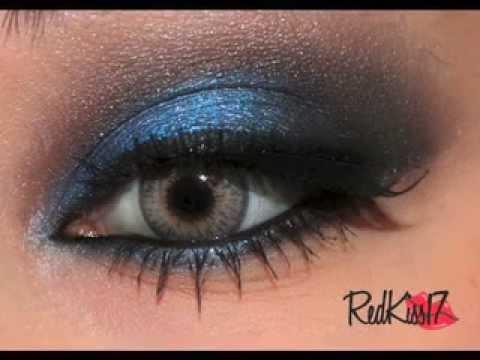 tutorial look noche azul