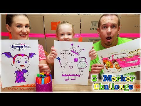 Xxx Mp4 3 MARKER CHALLENGE 5 Year Old Vs Dad And Mom Vampirina Peppa Pig Cars Lightning McQueen 3gp Sex