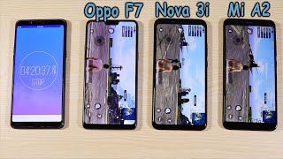 Huawei Nova 3i vs Oppo F7 vs Xiaomi Mi A2 Pubg and Battery Test