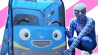 SpiderMan with Tayo the little bus & Learn Colors
