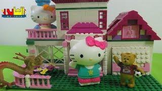 لعبة القطة كيتى تخاف من الأستحمام وصديقها ميكروب للأطفال ألعاب هالو كيتى للأولاد والبنات