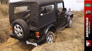 Mahindra Thar CRDe: Got stuck trying a tricky offroad obstacle. 05Feb17