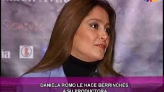 Daniela Romo le hace berrinches a su productora