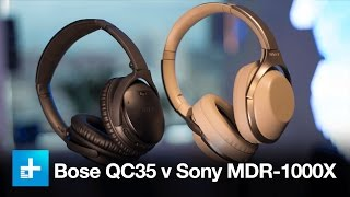 Wireless noise canceling headphone comparison- Bose QC35 v Sony MDR-1000X