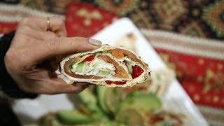 Lavash Salmon Wraps Recipe - Heghineh Cooking Show