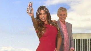 Ellen Interrupts Sofia's Diet Pepsi Commercial