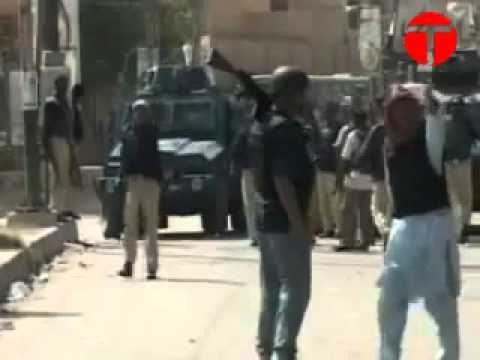 MQM, Police, PPP, War with  Lyari, Baloch, Uzair Jan