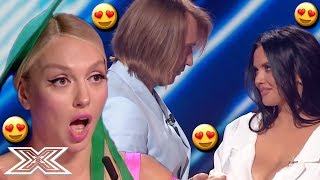 Judge FLIRTS With STUNNING Contestant During Audition! | X Factor Global