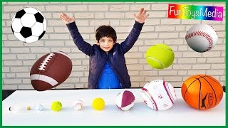 Learn Balls Sports for Children and Toddlers | Playing Outdoor Sports Kids Toys Fun Activities