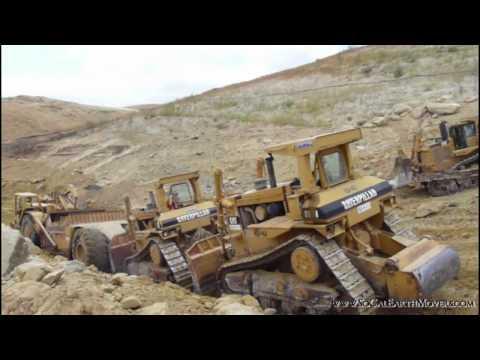 CAT D10N pushcat s loading 651B scrapers