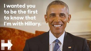 President Barack Obama endorses Hillary Clinton for president | Hillary Clinton