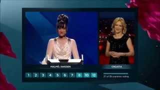 Eurovision 2013 : Vote of Croatia (HD) (1080p)
