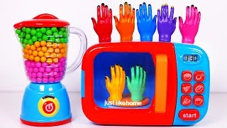 Microwave and Candy Blender for Kids!! Learn Colors with Surprise Toys