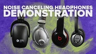 Noise Cancelling Headphones Review: Sennheiser vs Bose vs Beats Demonstration