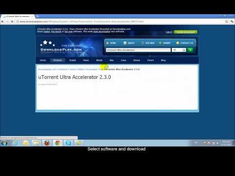 How to download and install uTorren Ultra Accelerator www.downloadplex.com