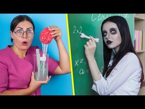 ¡Zombis En La Escuela 12 Útiles Escolares De Zombis