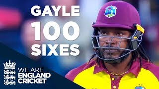 Chris Gayle Reaches 100 Sixes In Blistering 40 Off 20 Balls v England 2017 - Full Highlights