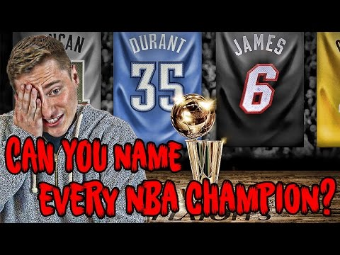 Can YOU Name Every Championship Team In NBA History?