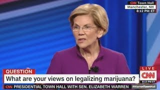 """Elizabeth Warren """"With Justice Reform One Of The Best Places We Can Start Is Legalizing Marijuana!"""""""