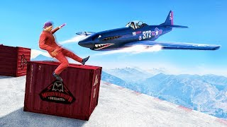 PLANES vs. SLIDING CONTAINERS! (GTA 5 Minigames)