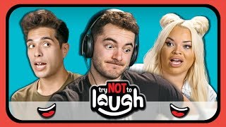 YouTubers React to Try to Watch This Without Laughing or Grinning #22