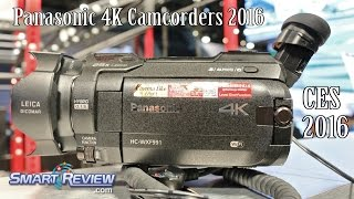 CES 2016 | Panasonic's Newest 4K Camcorders | HC-WXF991, WXF991K, HC-VX981 | Camcorder Demonstration