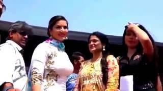 Sunny Leone And Sapna Choudhary  Latest Live Show 2016
