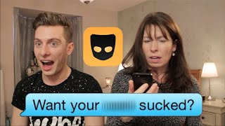 MOM READS SON'S GRINDR MESSAGES