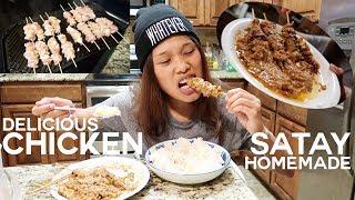 [ENG-SUB] MUKBANG SATE AYAM UENAAAKKK | CARA MASAK [HOW TO COOK] SIMPLE EASY AND DELICIOUS