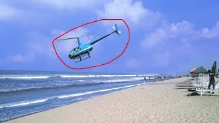 Helicopter Crashed in Cox's Bazar Sea Beach live video