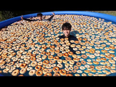 1000 DONUTS IN POOL