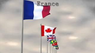 Beautiful Display of 28 Flags of the World - After Effects