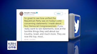 Trump Calls House Resolution Condemning His So-Called 'Racist' Tweets a 'Con Game'
