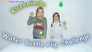 Water Bottle Flip Challenge Su Şişesi Çevirme Kuzenle - Eğlenceli Çocuk Videosu - Funny Kids Videos