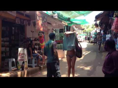 Goa Foreigners Holi Girl Strips Her Cloth For Holi Celebration