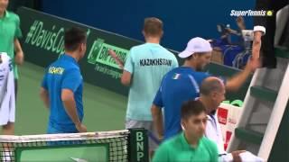 Fantastic point of Seppi in Davis Cup 2015 HD