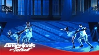 Aerial Ice - Aerialists and Ice Skating Beautifully Combined on AGT - America's Got Talent 2013