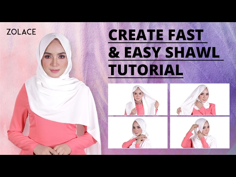 Hijab Shawl Tutorial 2017 -  How To Create Effortless Elegance With A Fast, Easy Shawl Look