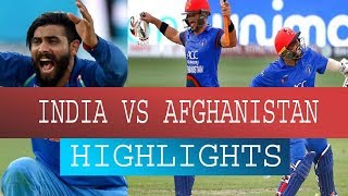 India Vs Afghanistan Highlights | asia cup india vs afghanistan match 2018