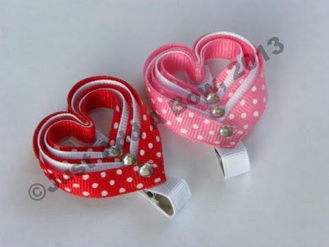 HOW TO Make a Layered Valentine s Day Heart Clip Tutorial by Just Add A Bow