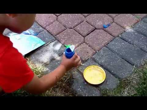 Tobin Blowing Dory Bubbles and Nemo!